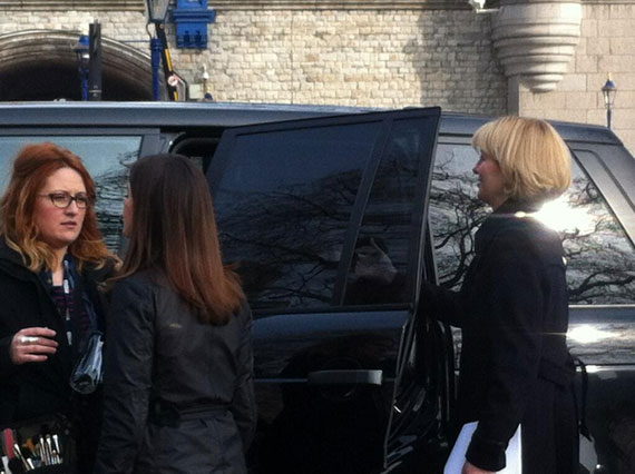 Jemma-Redgrave-Kate-Stewart-clara-jenna-50th-filming-day-7b