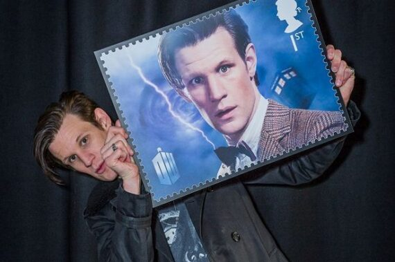 Matt smith with stamp