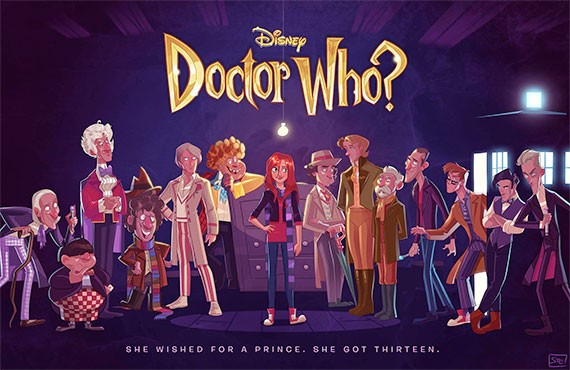 art-disney-doctor-who-Stephen-Byrne