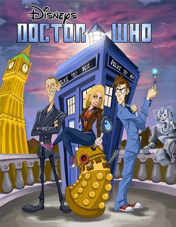art-disney-doctor-who