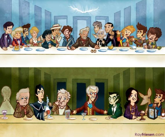 art-doctor-who-last-supper