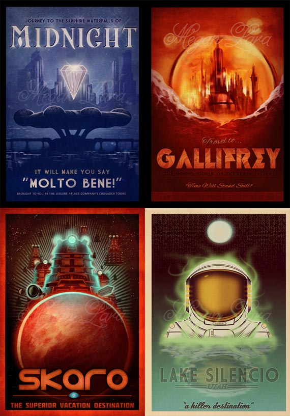 art-doctor-who-postcards