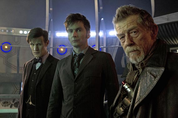 day of the doctor pics (3) smith hurt tennant