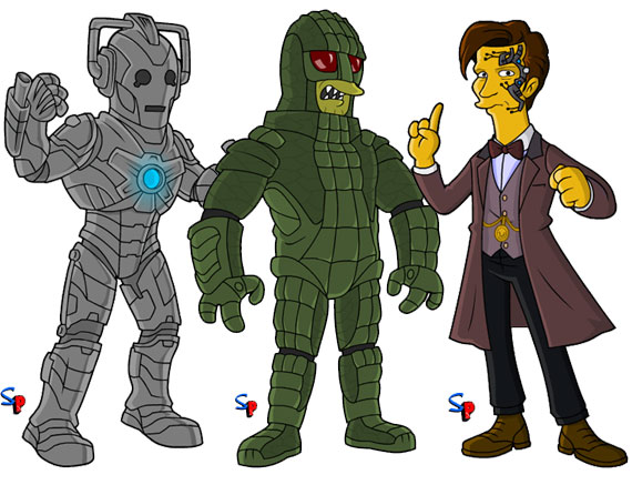 doctor-who-simpsons-ice-warrior-cybermen