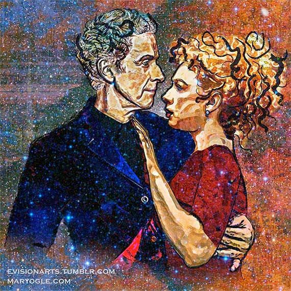 iver-Song-and-the-Twelfth-Doctor---Starry-Night-by-evisionarts