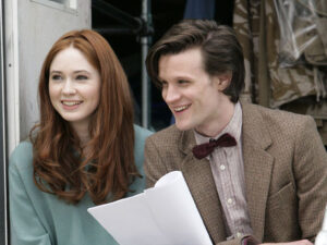 Matt Smith and Karen Gillan