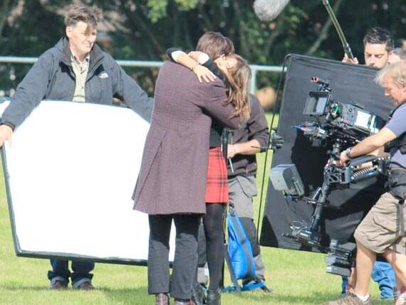 xmas-filming-matt-jenna-hug